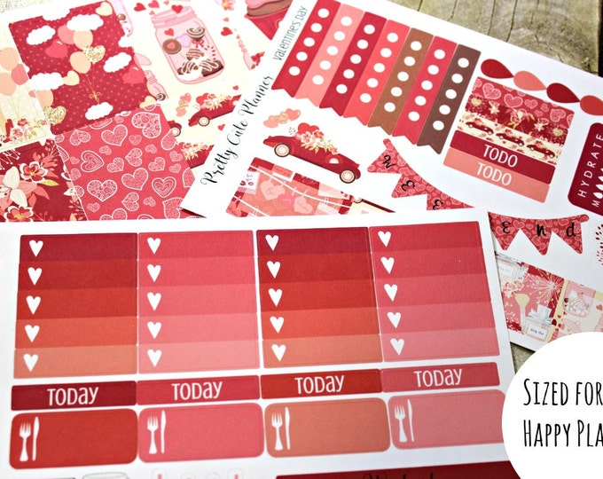 Happy Planner Stickers - Valentine's Day - Valentines Planner Stickers - Erin Condren - Happy Planner -Day Designer - Functional stickers