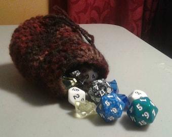 Crocheted Dice Bag