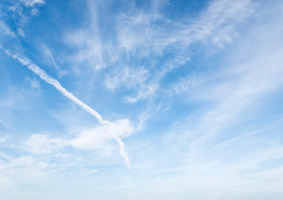 SKY ART 1. Skyscape Print, Blue Sky, Cloud Formation, Patterns in Sky, White Clouds,  Photographic print, Large Print