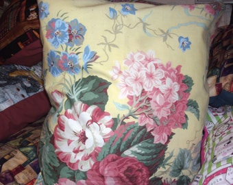 hand made Sanderson fabric cushion