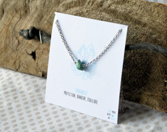 Turquoise necklace stainless steel