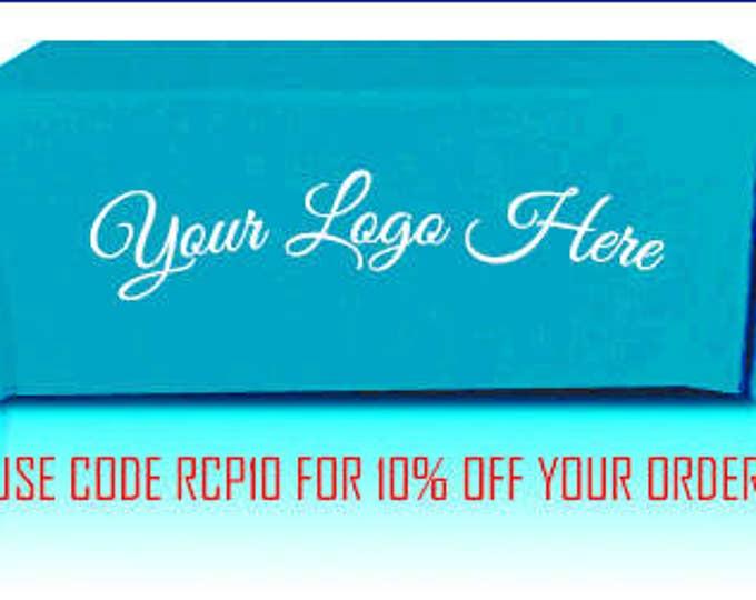 Custom Printed Turquoise Tablecloth, Branded Tablecloth, Promotional  Business Tablecloth, Table Cloth, Custom