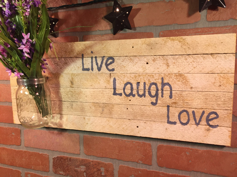 Rustic Live Laugh Love sign, wall decor [E10231018401186919M ...