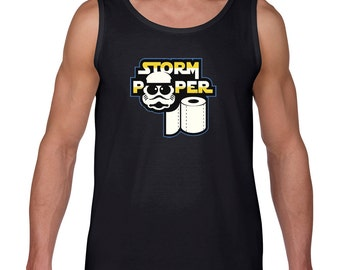This large unisex Tank Top is Star Wars inspired , Storm pooper a funny shirt get for Christmas gift or funny gift who love storm troopers