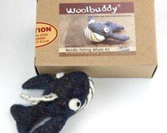 Whale Needle felting kit, Felting Gift, Needle Felting, Felted Decor