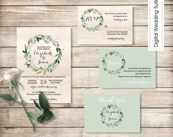 Printable Wedding Invitation Suite DIY Wedding Invitation Printable Custom DIY Wedding Customizable Wedding Invites Digital Wedding Invite11