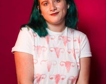Uterus Shirt - Feminism Pink Ovaries