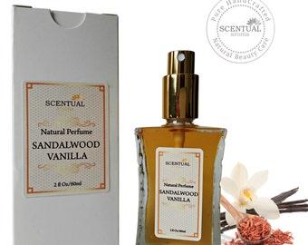 ON SALE Sandalwood Vanilla Perfume Oil, Natural Sandalwood Vanilla Perfume, Vegan Perfume, Gift Idea