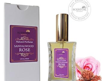 On Sale Sandalwood Rose Perfume Oil, Organic Sandalwood Rose Perfume, Vegan Perfume, Gift Idea