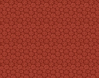 Crafty Cats Thread Dots Red - 1411-10 by Cheryl Haynes for Prairie Grove Peddler from Benartex