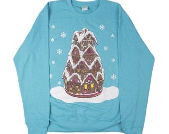 Christmas Gingerbread sweater, jumper, xmas, XL
