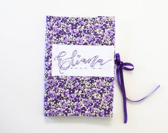 Personalized Fabric Book Cover
