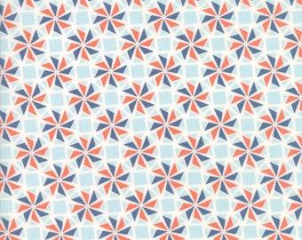Moda Fabric  - Early Bird Whirlaway - Denim - 27265 21 - Cotton fabric by the yard