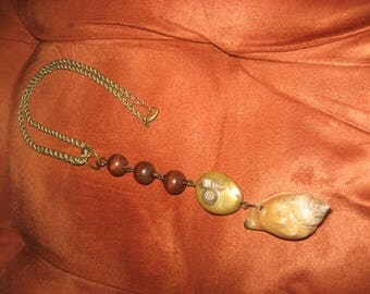 Shells & Beads on a Gold Rope Chain