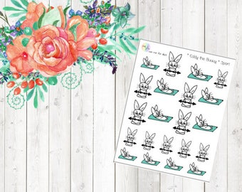 Eddy the Bunny - Sport (Erin Condren and Happy Planner Stickers)