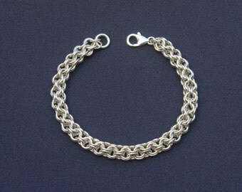 Sterling Silver 'Roundmaille' Bracelet
