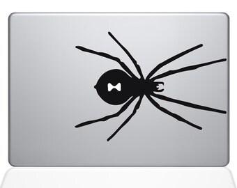 Black Widow Spider Macbook Decal Macbook Vinyl Decal For Macbook Apple Laptop Sticker