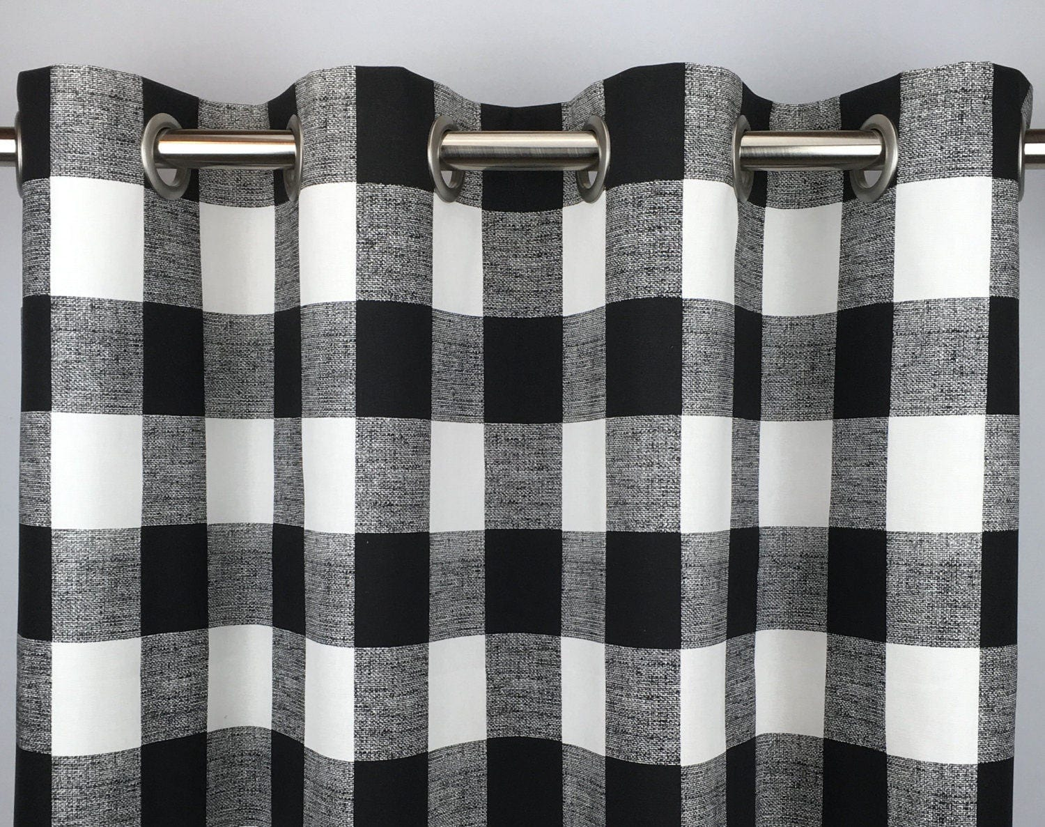 Black Buffalo Check Curtains Free Shipping Black Gingham