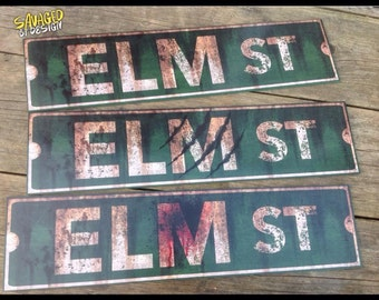 A Nightmare On Elm Street Sign (3 versions)