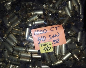 1000 count 40 s&w reloading or craft brass