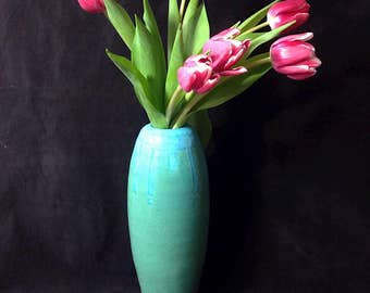 Turquoise and Blue Vase