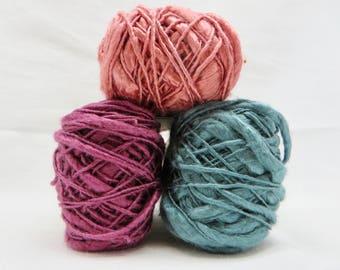 Silk Kenbo Slub  / Thick and Thin Yarn / Silk Slub / 100% Silk Yarn / Baby Yarn / Soft Yarn / Crochet / Knitting / Luxury Yarn / Habu N109