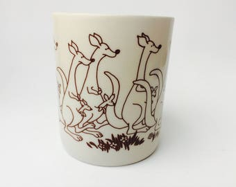 Vintage Papel Mug/Vintage Mug/Vintage Kangaroo Mug/Viva La Difference/Papel