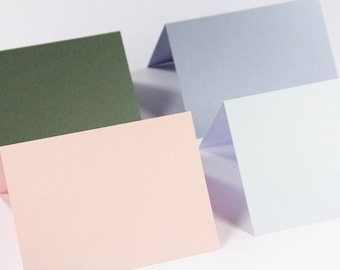 25 - A9 Blank Folded Cards  - 5 1/2 x 8 1/2  (Available in 48 Colors)