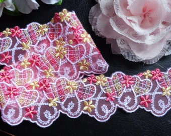 1 5/8 inch wide embroidered lace selling by the yard
