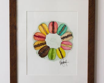 A color wheel of Macarons