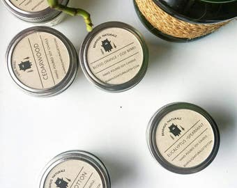 Mason Jar Soy Candle - Stocking fillers- Stocking Stuffer - Holiday scent candles - Gift for her - Gift for mom - Christmas Gift