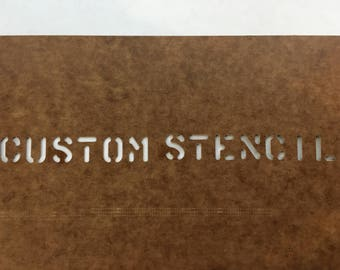 Real U.S Military CUSTOM MADE Oil board 1 Inch Stencils , Made with your information. Army USMC usn Usaf Stencil usgi Marsh Machine