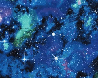 Stretchy Galaxy Cotton Knit fabric