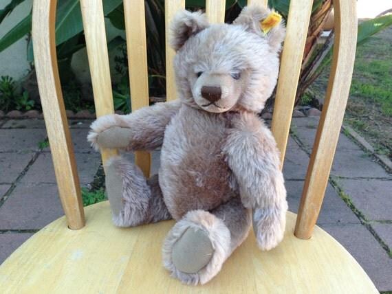 Steiff blond mohair teddy bear