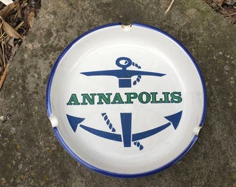 Annapolis Nautical Ash Tray Anchor and Rope Naval Academy