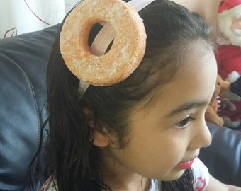 Donut Headband Photography prop, first birthday party hat, tea party hat Donut costume