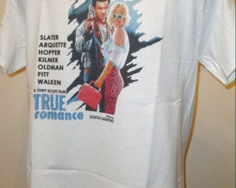 True Romance : 90s Film Poster T Shirt - Retro Movie Apparel Fashion Graphic Tee Unisex Mens Womens 345