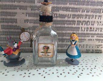 Alice in wonderland bottle gift/ decirative bottle / tea party decor