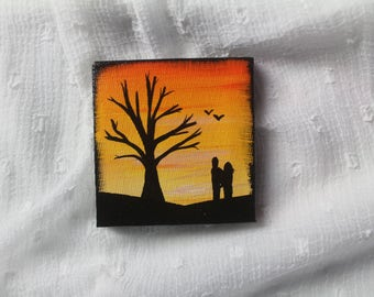 Little Sunset Painting (464)