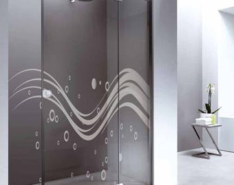 Decorative adhesive film to glass, sandblasted, sandblast, glass, Windows, stained glass, Decal, vinyl text, stained glass