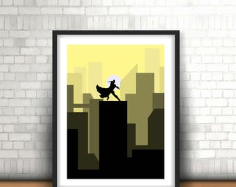 Thor The Avengers Inspired Art Print, Home Decor Wall Art, Boys Room Decor, A4 in size