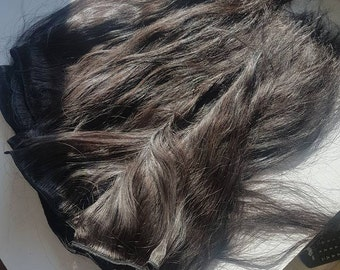 "Russian hair,luxury selection,Remy hair,20"",Dark brown,Human hair"