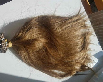 Slavic hair, Keratin extensions, Flat type fusion, Keratin extensions, 24'', Remy human hair, Hand made, Luxury quality