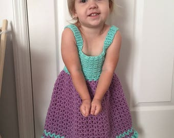 Crochet Sundress, Crochet Toddler Sundress, Crochet Toddler Dress