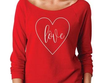 Valentine's Day Sweatshirt, Love Sweatshirt, Heart Sweatshirt, :Love Heart Sweatshirt, Valentine's Sweatshirt, Women's Sweatshirt, Valentine