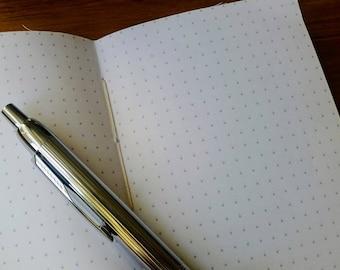 Bullet planner journal dot grid insert for Travelers Notebook, Dotted planner inserts for Midori Fauxdori Traveler Notebook