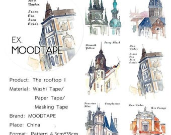 House Washi Tape The rooftop 1,scrapbooking stickers,DiY,Paper Decorative masking Tape