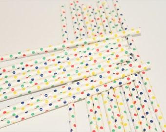 20 Rainbow Paper Straws, Rainbow Theme Party Decorations, Paper Straws, Colourful decorations, Party Straws, Rainbow Straws