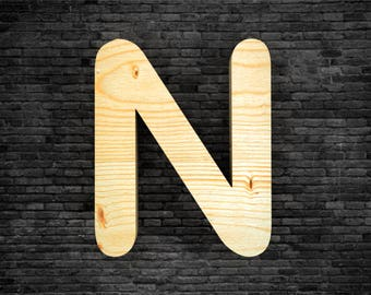 Letters in wood-