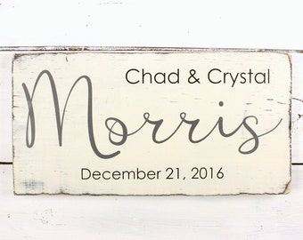 Personalized Last Name Sign - Personalized Sign - Wedding Gift - Rustic Wedding Sign